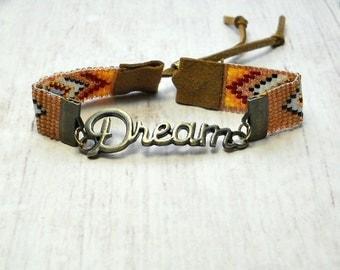 Southwestern Bead Bracelet - Bohemian Bracelet - Bead Bracelet - Adjustable Bracelet - Rustic Bracelet - Southwestern Jewelry