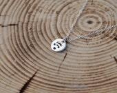 Sterling Silver Pendant, Panda Sterling Silver, Animal Footprint Pendant, Panda Necklace,Tiny Pendant, Panda Footprint