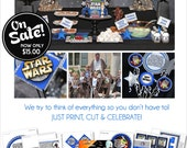 Star Wars Party Printable | Star Wars Birthday | Star Wars Decorations | Star Wars Favors | Instant Download | Amanda's Parties To Go