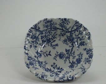 Vintage Old Bradbury Square Bowl Salad Soup Johnson Brothers Made In England English Blue And White China Ironstone 4 Pieces