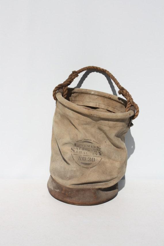 Vintage Lineman Canvas Tool Bag Bucket Lineman Gear Canvas