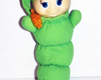 Vintage Original Glo Worm Glow 1980s Works Plush Toy Gloworm