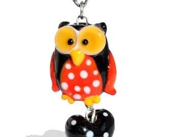 Lampwork Pendant Owl