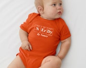 Periodic Table Inspired Baby Bodysuit - NERDY By NATURE by Periodically Inspired - Baby Gift (Orange)