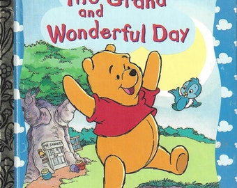 Pooh The Grand and Wonderful Day, Little Golden Book, Vintage Children's Book, C1995