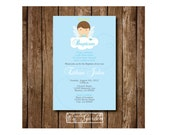 Angel Baptism Invitations(DIY)
