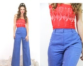 Vintage 70s BELL BOTTOM Jeans HUGE Flare High Waisted Pants Vintage Clothes by TatiTati Vintage on Etsy