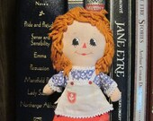"Vintage 70s Hallmark Cards Raggedy Ann Doll - Small 6"" Knickerbocker Toy - Original Miniature Collectible"