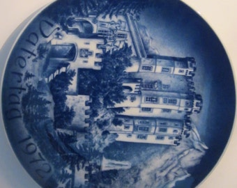 Vatertag - Father's Day Plate - Bareuther Bavaria Germany - 1972 - Castle Hohenschwangau