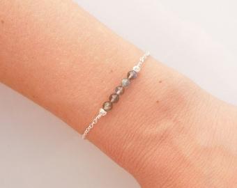 Labradorite Bracelet in Silver - Beaded Jewelry
