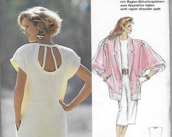 Burda 5727 Women's 80s Evening Dress & Jacket Sewing Pattern Bust 34 to 46