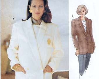 Vogue 8605 Women's 90s Jacket Sewing Pattern Bust 36 to 40