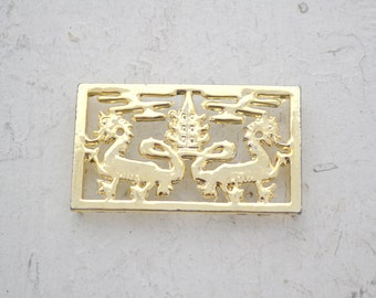 1960s Shumsky Dragon Belt Buckle