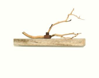 "Reclaimed wood floating shelf - 20"""