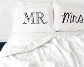 Wedding GIft Couples Pillow Cases Mr and Mrs Pillowcases Bride and Groom Wedding Gift His and Hers Pillows Couples Pillowcases