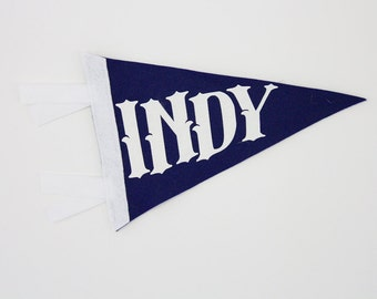 Indianapolis Wool Felt Mini Pennant
