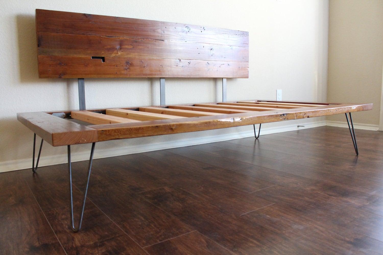 reclaimed case study bed. Black Bedroom Furniture Sets. Home Design Ideas