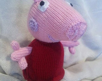 Peppa Pig - Knitted Soft Toy