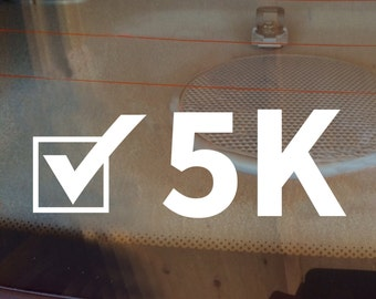 5K Decal, Runner Decal, 5K Car Decal, Marathon Decal, 5K Sticker, 5K, 5K Laptop Sticker, 5K Laptop Decal, Vinyl Decal, Track, Track Decal