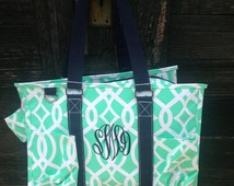 Personalized Large Utility Tote Vine - Various Colors