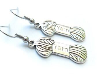 Yarn Silver Earrings