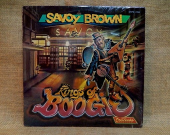 RARE...SAVOY BROWN - Kings of Boogie - 1989 Vintage Vinyl Record Album