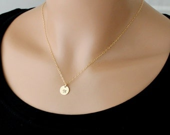 Initial Necklace / Gold Necklace / Personalized Jewelry / Gold Initial Necklace / Letter Necklace / Layered Necklace