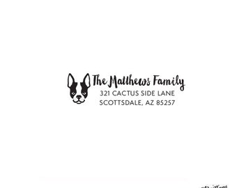 Boston Terrier Stamp Etsy