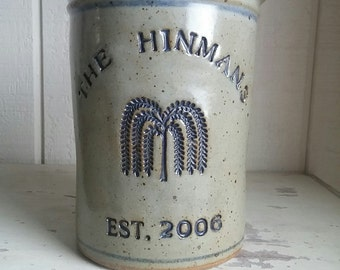 Willow Tree logo Personalized Stoneware Wine Cooler