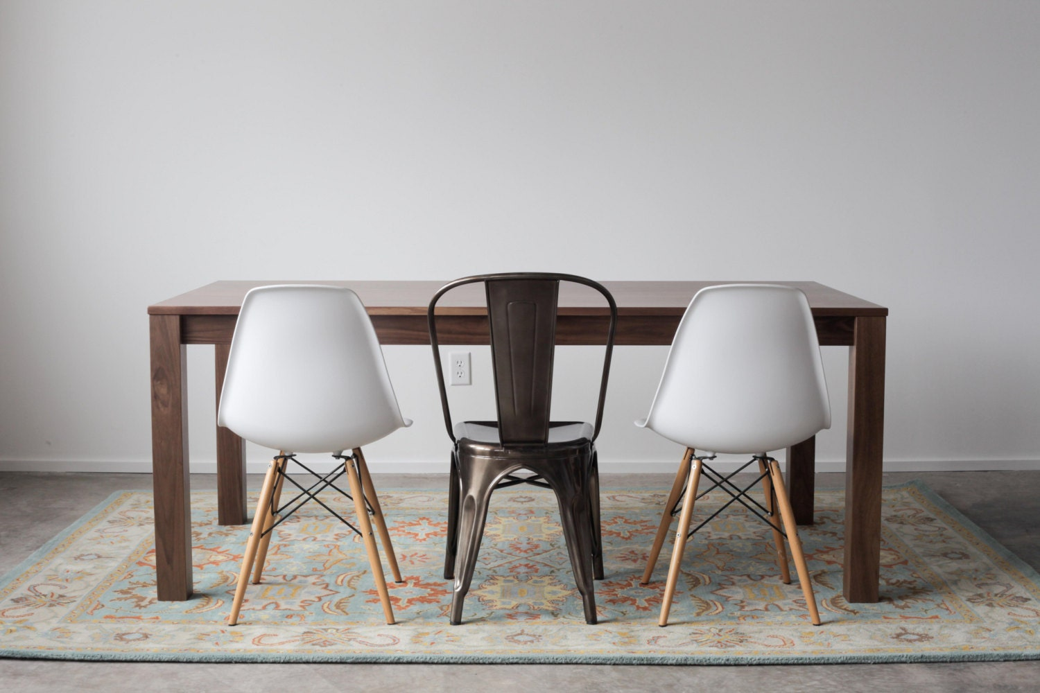 solid walnut parsons dining table customizable with leaves. Black Bedroom Furniture Sets. Home Design Ideas