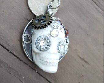 Steampunk Skull Pendant