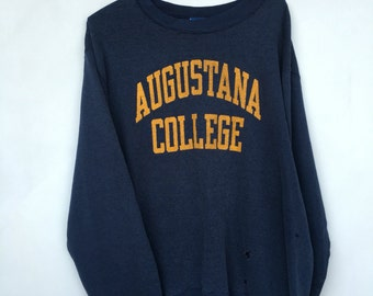 Vintage Distressed Augustana College Champion Sweatshirt XXL Made in USA