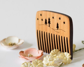 Small Twilight Wooden Comb
