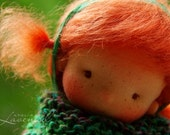 """RESERVED Enja Waldorf Inspired Doll OOAK Doll  by Atelier Lavendel Natural Fibers Doll Cloth Doll 9"""" ECO friendly"""