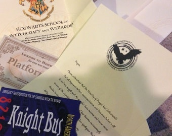 Hogwarts Acceptance Letter - with -Ministry of Magic Letter - explaining why owls can't be used - Harry Potter