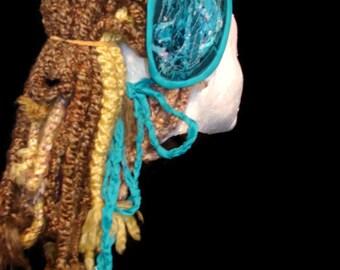 Patchwork headband dread headband dread wrap hair wrap pixie fairy festival headband hair accessory hippie headband *