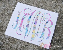 Vinyl Monogram Decal- Monogram Sticker- DIY Monogram