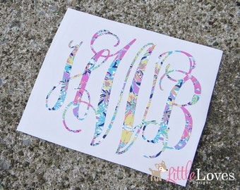 Vinyl Monogram Decal- Monogram Sticker- DIY Monogram