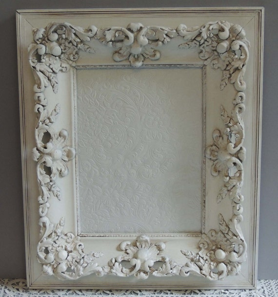 vintage ornate white picture frame 9 x 12 frame white. Black Bedroom Furniture Sets. Home Design Ideas