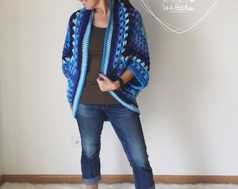 Cocoon Shrug Pattern, The Wonderland Shrug Crochet Pattern, Instant PDF Download