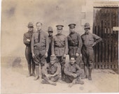 WWI Soldiers in France- 1910s Antique Photograph- WW1 Military History- Men in Uniform- Found Photo- Vernacular- Paper Ephemera