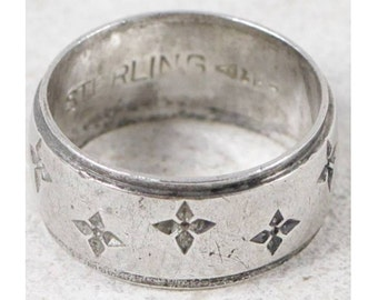 Vintage Clark & Coombs Cross Sterling Silver Ring size 7 Religious Jewelry