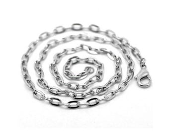 "2 Chain Necklaces in Silver Tone - 20 1/8"" - N001"