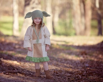 Yoda dress, Star Wars Costume, Disney Inspired Dress, Star Wars Dress