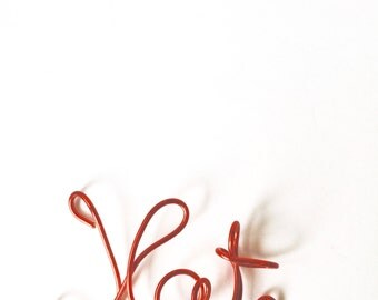 Kat, Red wire, Christmas ornament,