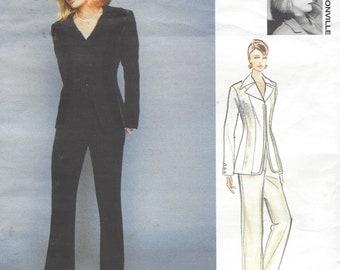 90s Myrene De Premonville Womens Princess Seam Jacket & Pants Vogue Sewing Pattern 1631 Size 6 8 10 Bust 30 1/2 to 32 1/2 UnCut