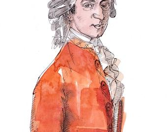 Mozart Original Artwork
