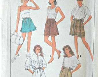 Simplicity 8630 Misses Shorts in Three Lengths Pattern, Size 6, Factory Folded Uncut, Vintage 1988