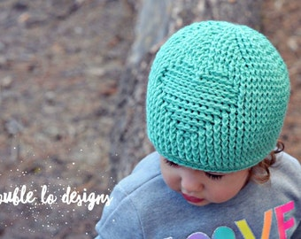 Crochet Pattern for Embossed Heart Beanie Hat - 7 sizes, baby to large adult - Welcome to sell finished items