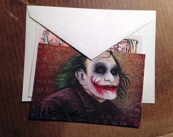 Why So Serious Postcards, 2-Piece Illustration Set